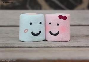 Marshmallow Love love funny cute kawai marshmallow ...