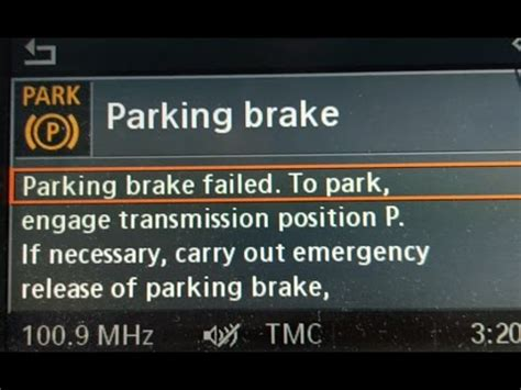 bmw parking brake failed fixed easily