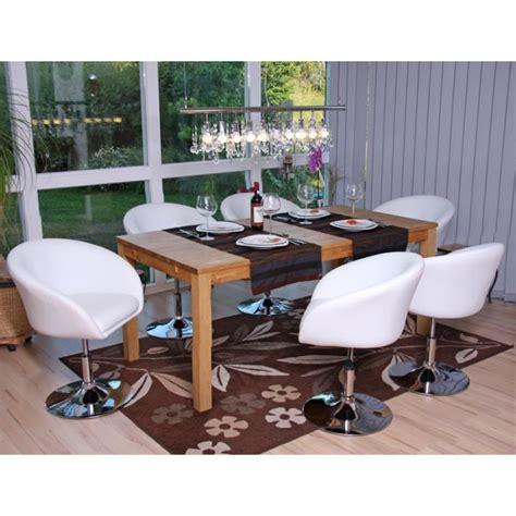 lot chaises salle à manger lot de 6 chaises salle a manger blanc réglable achat vente chaise métal simili