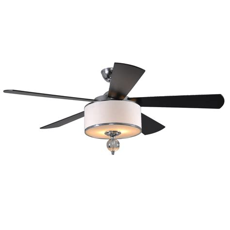 lowes ceiling fan light kit shop allen roth victoria harbor 52 in polished chrome