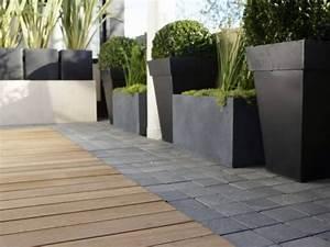 beton exterieur terrasse simple pack granulat rsine pour With escalier exterieur metallique leroy merlin 15 mur en gabion