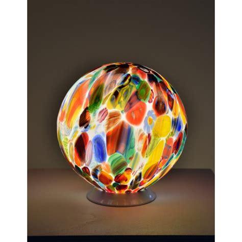boule en verre le en forme de boule lumineuse en verre artisanal de venise i lustres