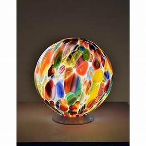 Lampe De Chevet Boule : lampe en forme de boule lumineuse en verre artisanal de venise i ~ Teatrodelosmanantiales.com Idées de Décoration