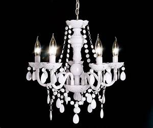 Kronleuchter Weiß Landhausstil : kronleuchter karat 52 cm weiss 5 armig m bel leuchten h ngeleuchten ~ Sanjose-hotels-ca.com Haus und Dekorationen