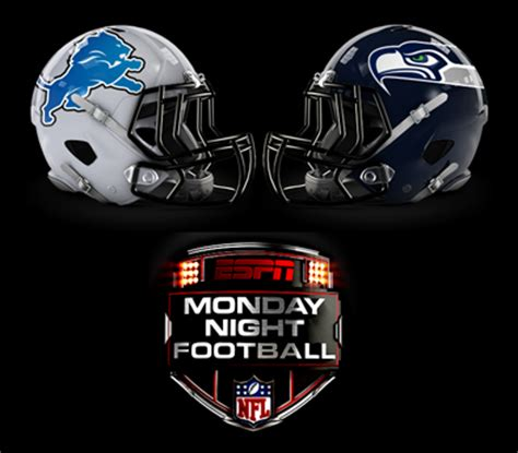 monday night football lions  seahawks