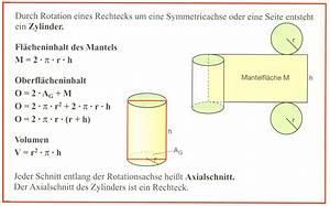 Zylinder Volumen Berechnen : zielgerade 10g auf dem weg zum abschluss rotationsk rper zylinder ~ Themetempest.com Abrechnung