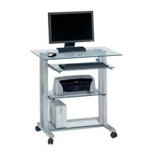 design pc tisch pc tisch cu pc r 12 aus aluminium klarglas home24