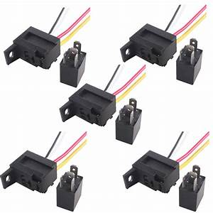 5 X Car 30a Amp 12v Relay Kit Spdt For Fan Fuel Pump Light Horn 5pin 5 Wire