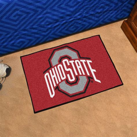 Ohio State Doormat by Ohio State Buckeyes 19 Quot X 30 Quot Starter Area Rug Mat Ebay