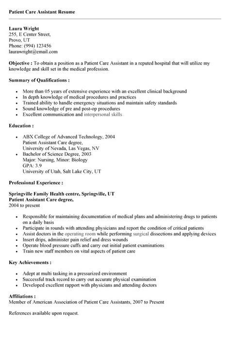 12-13 patient care associate resume | loginnelkriver.com