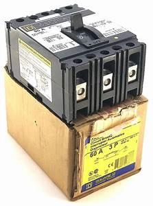 Square D 3 Pole 60 Amp 480 Vac Nib Circuit Breaker  F7
