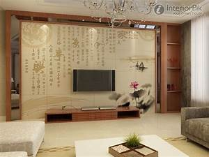 New chinese style living room tv background wall tile