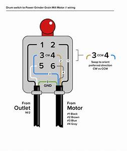 Wiring Drum Switch For Motorized Grain Mill