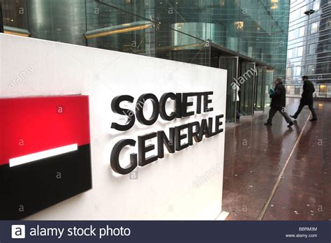 siège société générale la défense societe generale headquarters in la defense stock photo