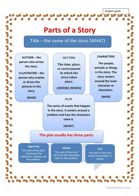 Parts Of A Story Worksheet  Free Esl Printable Worksheets Made By Teachers