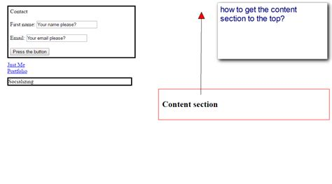 how do i get section 8 how to get the content section to top css codedump io