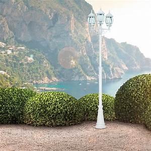 Terrassen Beleuchtung Außen : garten laterne aussen lampe ip44 220 cm terrassen hof beleuchtung alu wei retro ebay ~ Sanjose-hotels-ca.com Haus und Dekorationen