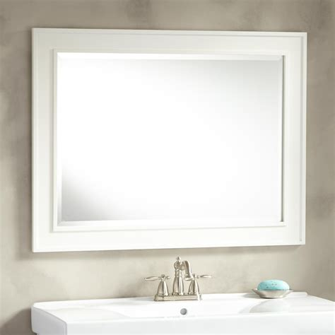 Bathroom Mirrors White Frame by Manhattan Vanity Mirror Bathroom