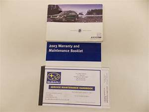 03 2003 Subaru Impreza Owners Manual Book Guide Set   7868