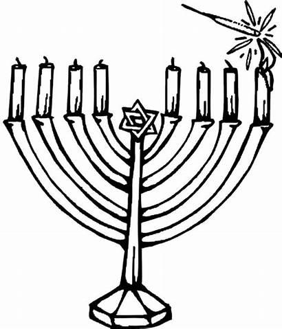Coloring Kinara Hanukkah Pages Candles