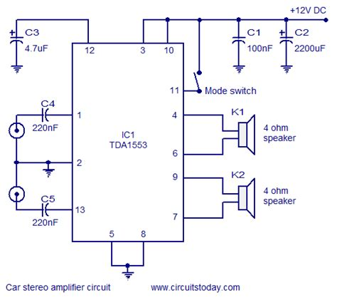 car stereo amplifier circuitcircuit diagram world