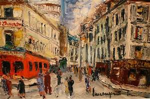 Peinture De Paris Poissy : genin lucien peinture 20 si cle vue paris montmartre rue ~ Premium-room.com Idées de Décoration