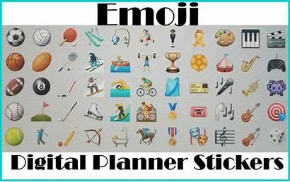 Digital Planner Emoji Stickers Using Sticker