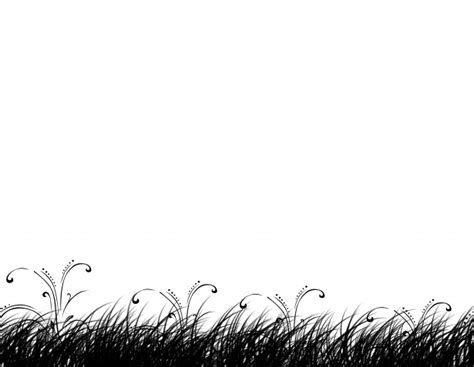 Grass Silhouette Clipart Background Free Stock Photo