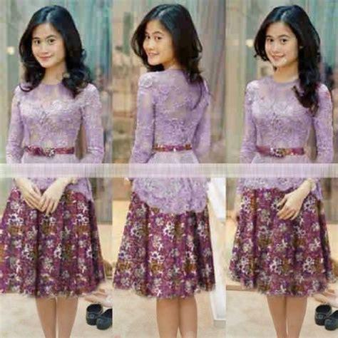 baju mini dress pendek kebaya batik modern terbaru murah