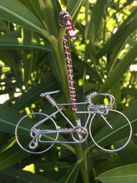 bicycle art christmas tree handmade bicycle ornament bike decor unique tree decorations freedom wire