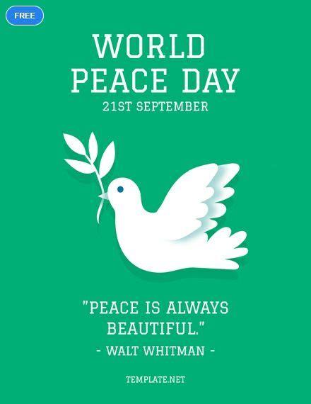 world peace day greeting card greeting card