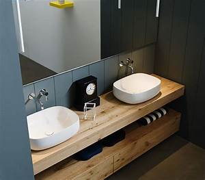 Arredo Bagno legno grezzo rovere antico L 170 cm