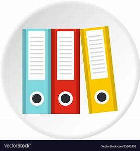 Documentation in folders icon circle Royalty Free Vector