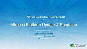 201511 - Alfresco Day - Platform Update and Roadmap ...