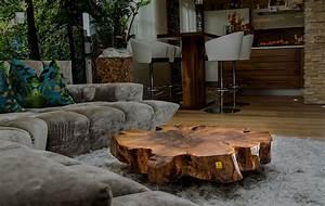 Baumstamm Als Tisch : stammdesign einzigartige baumstamm tische holz designs ~ Watch28wear.com Haus und Dekorationen