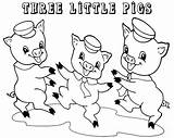 Pigs Coloring Three Pages Preschoolers Printable Preschool Story Drawing Colouring Template Fun Pig Sheets Sheet Cartoon Draw Clipart Houses Sketch sketch template