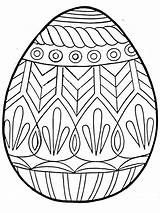 Coloring Easter Egg Printable Popular sketch template