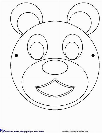 Bear Printable Mask Teddy Templates Cut Shapes