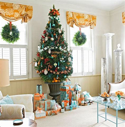 orange and blue christmas decorations hues offer exciting d 233 cor possibilities