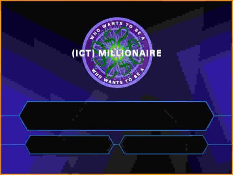 Who Want To Be A Millionaire Template Powerpoint With Sound by Who Wants To Be A Millionaire Template Madinbelgrade