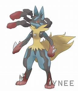 Mega Lucario by Lyneee on DeviantArt