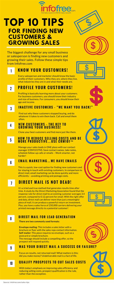 Infographic Top 10 Tips For Finding New Customers