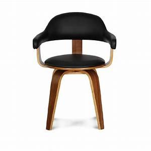 Chaise design scandinave rotative noire PYÖRIVÄ Demeure et Jardin