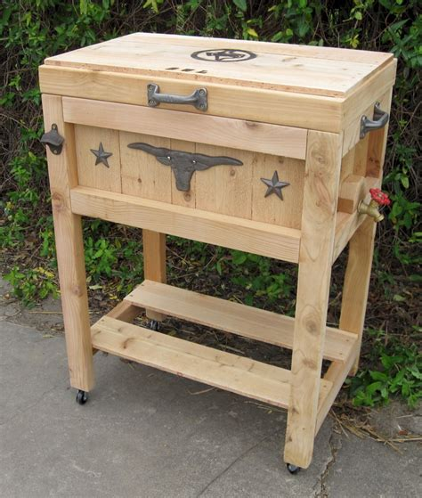 tallboy cowboy country cooler  longhorn     lid  flush   stand
