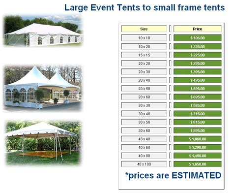 Rental Prices by What Are Some Alternatives To Renting Tents For A Wedding
