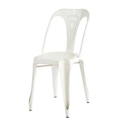 chaise indus chaise indus en métal blanche multipl 39 s maisons du monde