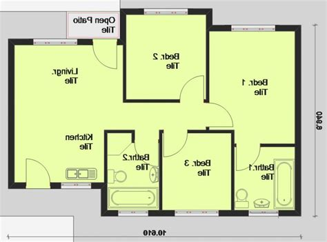 3 bedroom ranch house floor plans simple house plans with photos in south africa