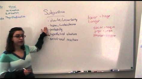 spanish subjunctive  indicative youtube