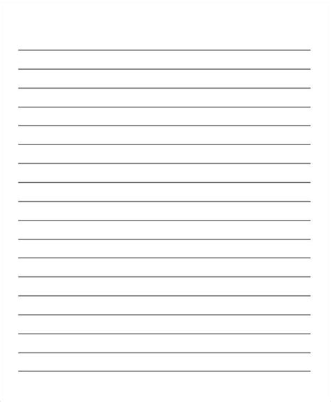 sample lined paper templates  premium templates