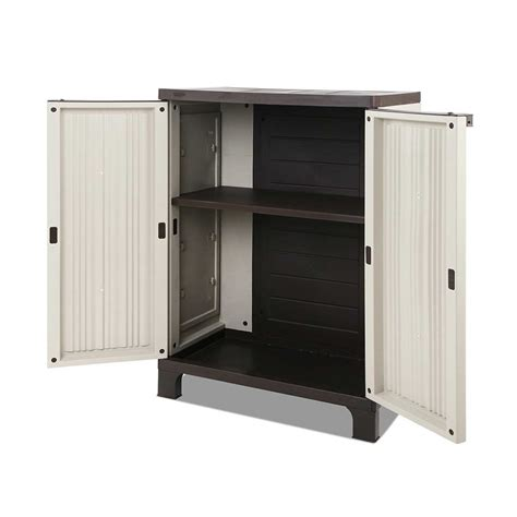 Half Cabinet by Corrugated Outdoor Half Sized Storage Cabinet The